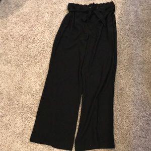 Express wide leg high rise dress pants